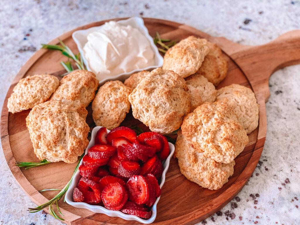 Buttermilk Drop Biscuits + Easy Strawberry Shortcake
