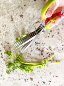 These herb scissors make chopping herbs so easy!