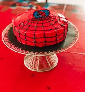 DIY Spider-Man birthday cake