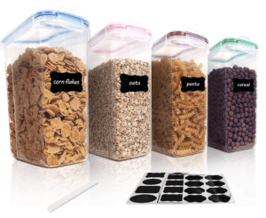 cereal containers for pantry