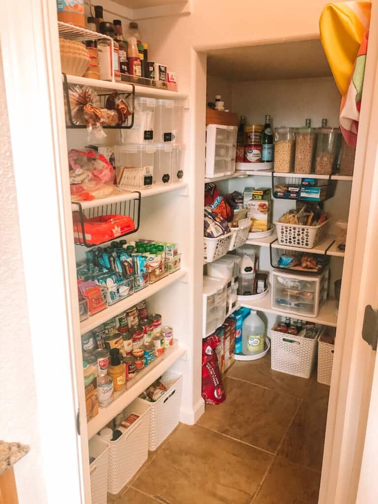 large pantry organized