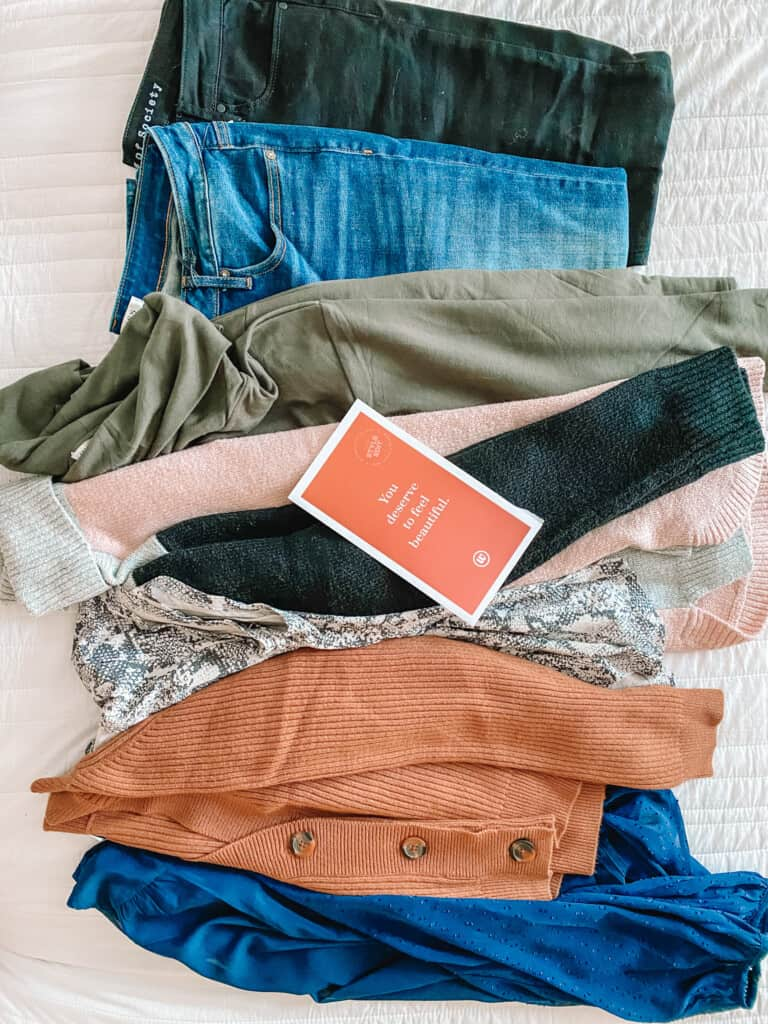 clothes received from Wantable
