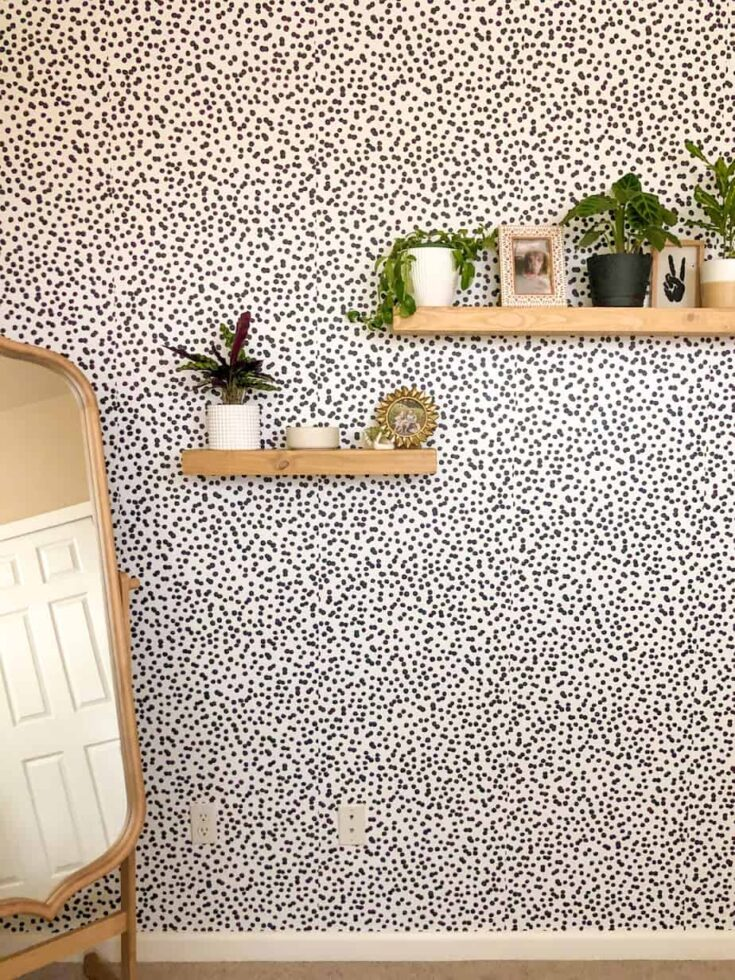 wall with black dots removable wallpaper