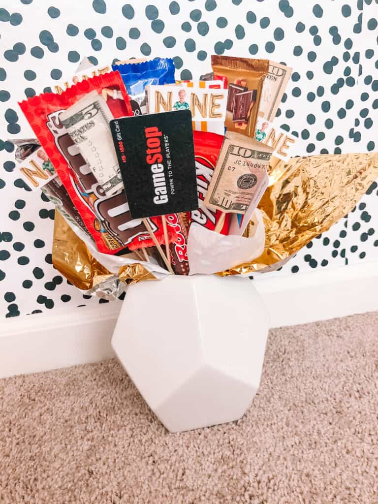 gift card bouquet gift