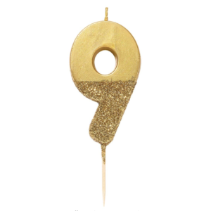 gold 9 candle