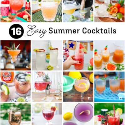 round up of delicious cocktails
