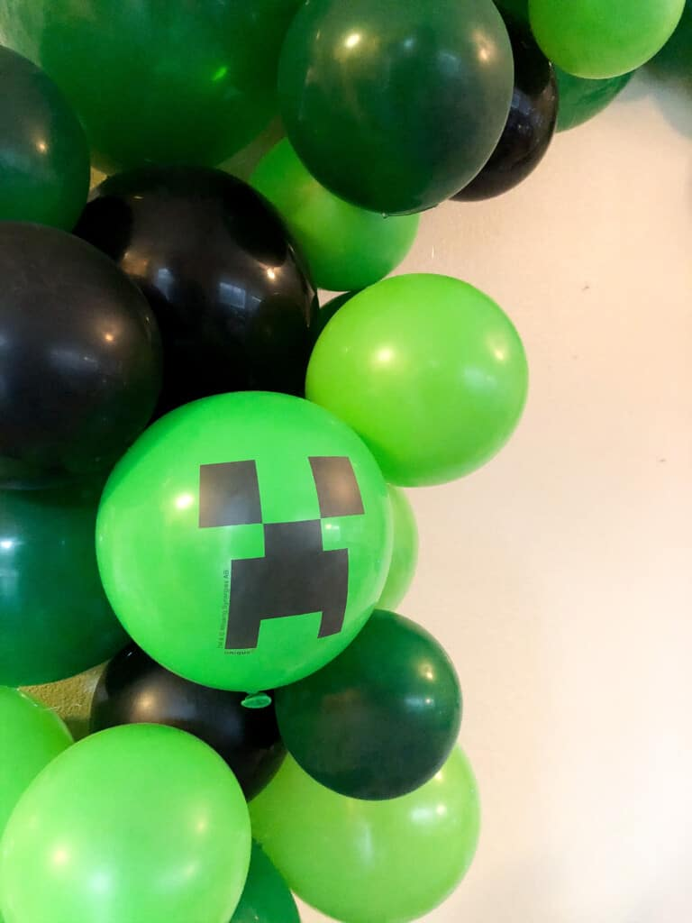 Minecraft creeper balloons