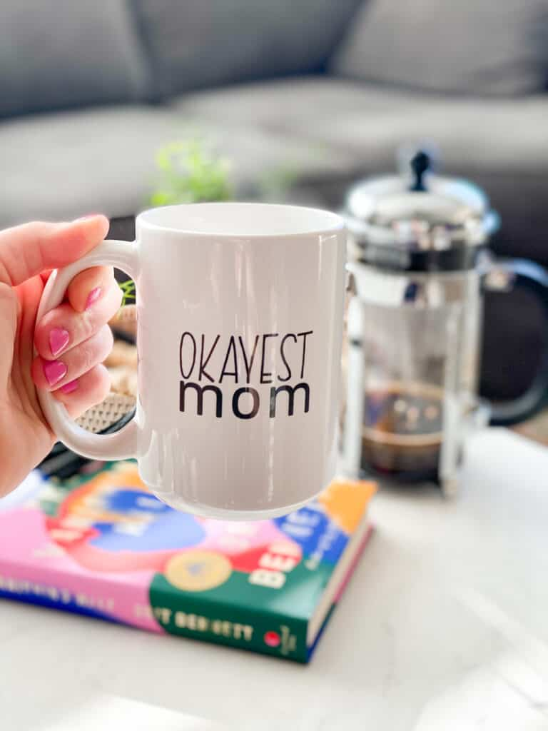 Episdoe 56. Ask Us Anything sponsor: Okayest Moms coffee mug available in our Etsy Shop