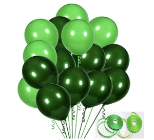 various green balloons