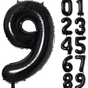 large foil number balloon