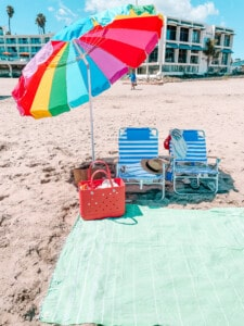 umbrella beach set up