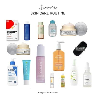 summer skin care routine products
