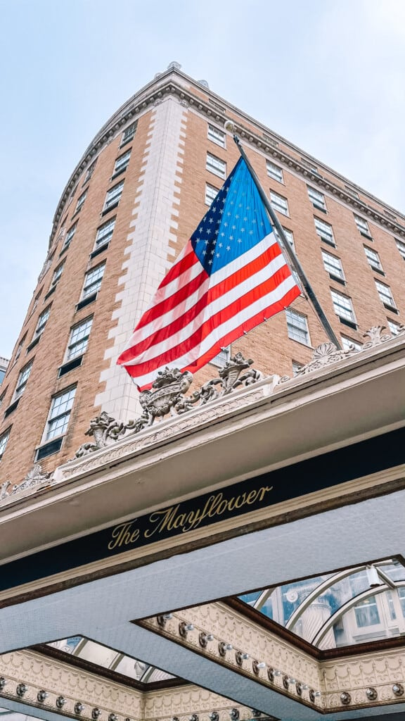 front of the mayflower hotel DC