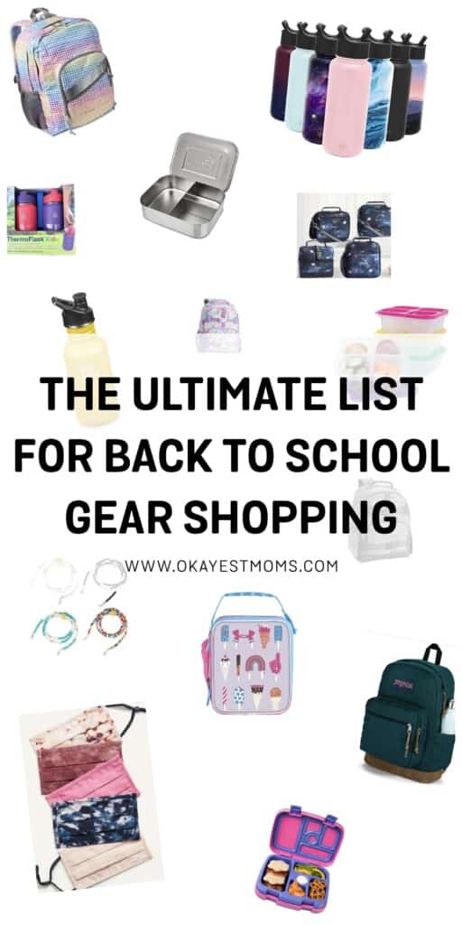 ultimate list of back to school gear shopping