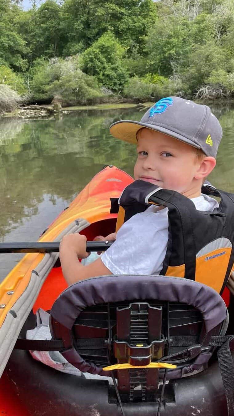 kid on kayak