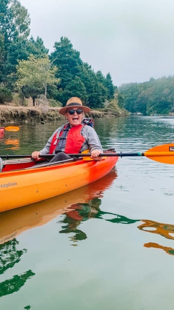 kayaking on the noyo river