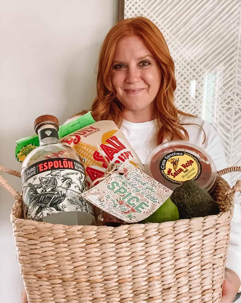 Taco night gift basket including homemade taco seasoning