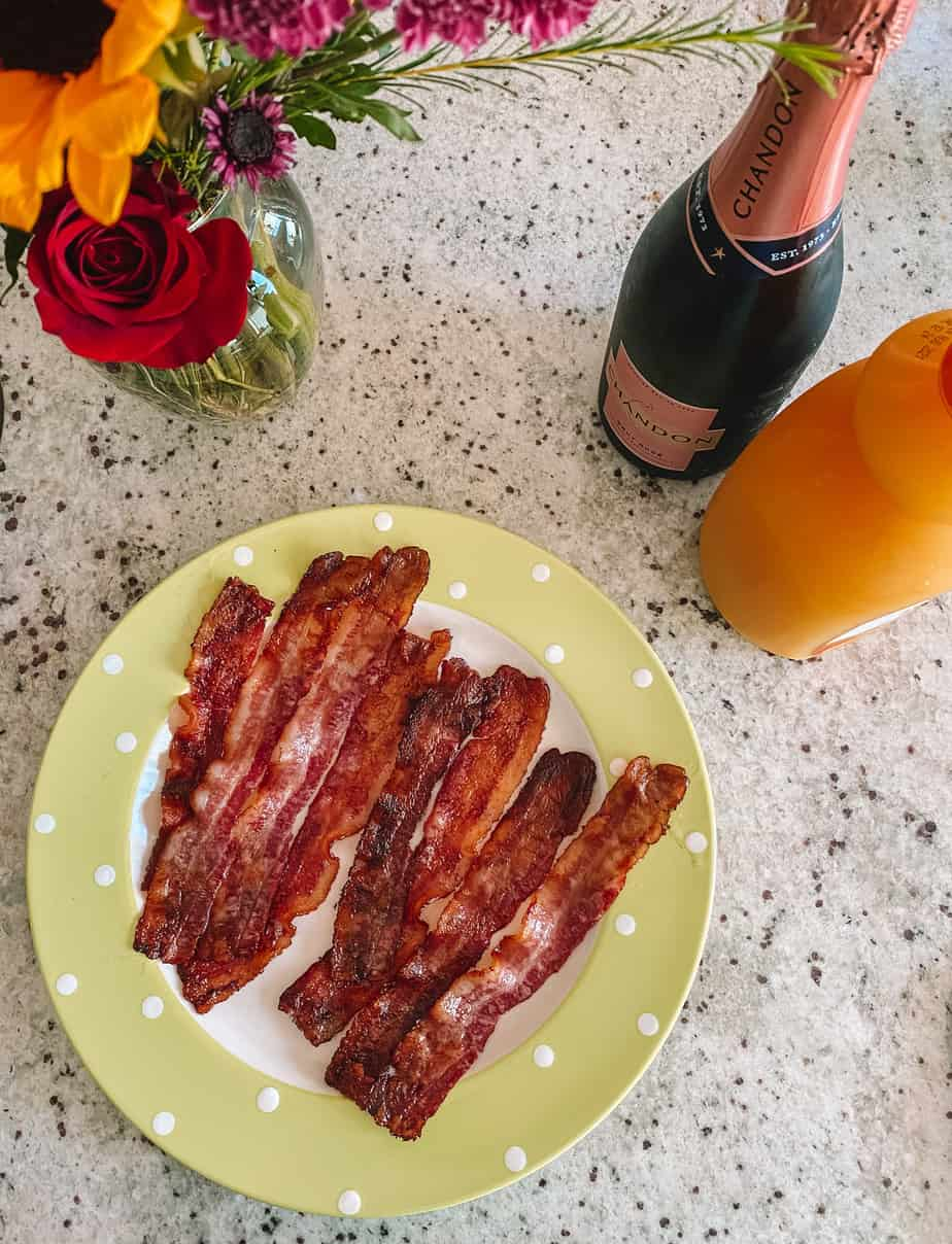 bacon and mimosas