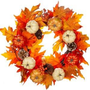 traditonal fall wreath