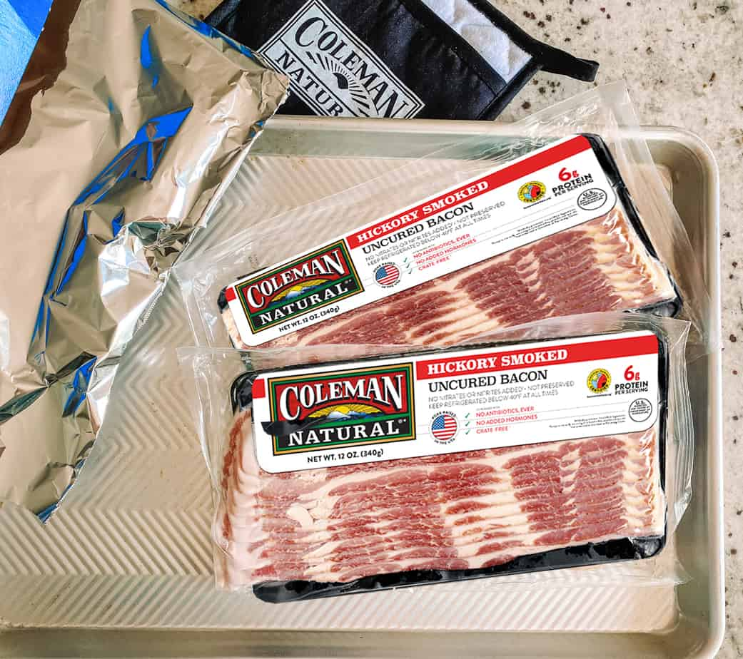Coleman bacon can be cooked on a sheet pan in the oven